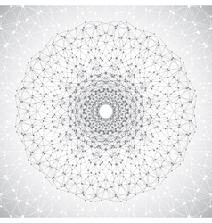 geometric abstract lattice with connected line vector image