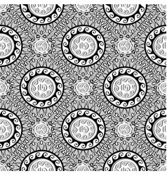 greek black and white geometric seamless pattern vector image