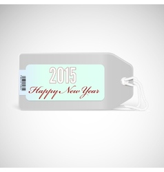 greeting card with new year 2015 on price tag vector image