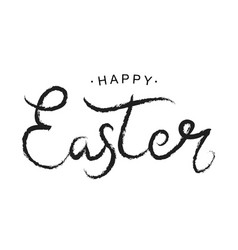 Happy easter black paint lettering vector