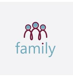 Happy family design template vector