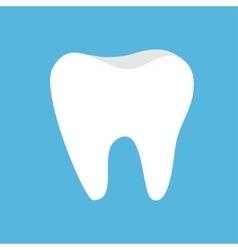 Healthy tooth icon oral dental hygiene children vector