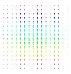 human shape halftone spectral pattern vector image