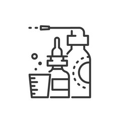 medicines - line design single isolated icon vector image