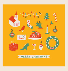 Merry christmas card or poster vector