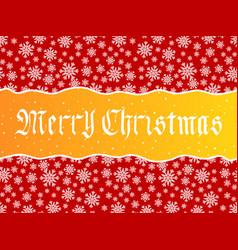 Merry christmas lettering over red vector