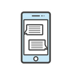 mobile phone isolated linear icon vector image