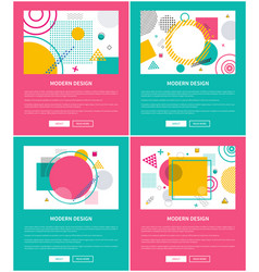 modern design collection on vector image