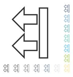 Move arrows left icon vector