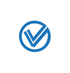 new check mark logo or icon vector image