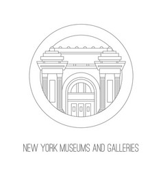 new york attractions thin lined icon of vector image