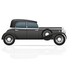 Old retro car 02 vector
