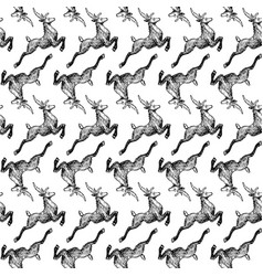 pattern with deers vector image