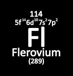 Ununquadium chemical element royalty free vector image periodic table element flerovium icon vector image urtaz Image collections
