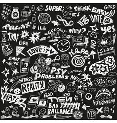 Psychology - doodles set vector