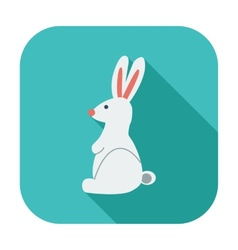 Rabbit single icon vector image