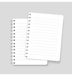 Realistic spiral lined notebook isolated vector image