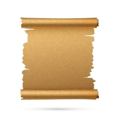 Realistic vertical paper ancient scroll vector
