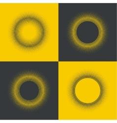 round banner pixels vector image