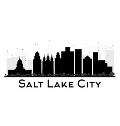 salt lake city city skyline black and white vector image rh vectorstock com london city silhouette vector city skyline silhouette free vector