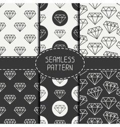 Set of monochrome hipster fashion geometri vector