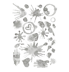 set of stains grunge glass stains vector image