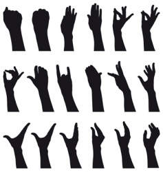 Sign language vector