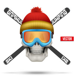 Ski club or team badges and labels vector