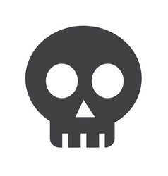 skull bone icon vector image