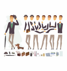 Stylish man - cartoon people character vector