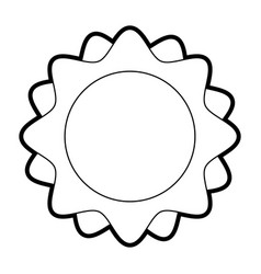 Sun minimalistic representation icon image vector