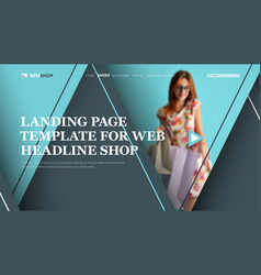 Template gray-blue header for the site with vector