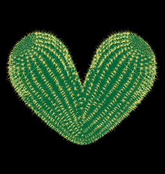 thorny heart thorny cactus in the shape of heart vector image