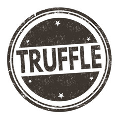 truffle sign or stamp vector image