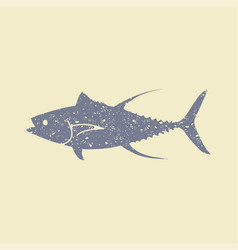Tuna fish flat icon vector