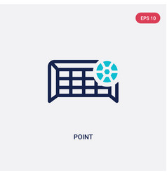 Two color point icon from football concept vector