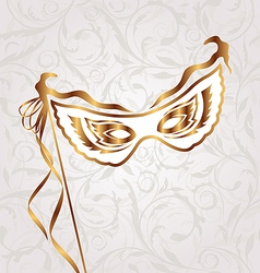Venetian carnival or theater mask vector image