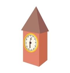 Vintage wooden clock icon cartoon style vector image