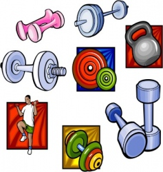 Weights and dumbbell vector vector