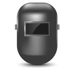 Welding mask isolated vector