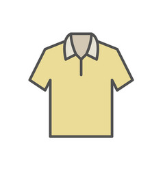 Yellow t-shirt icon on white background vector