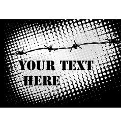 barb wire background vector image vector image