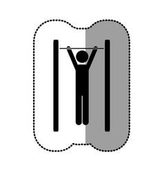 black person do exercise gym vector image vector image