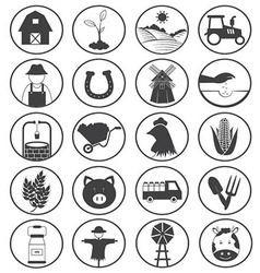 Farming Icons Collection vector image vector image