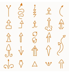 Hand drawn set of arrows vector image