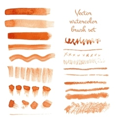 Set of watercolor brush strokes vector image vector image