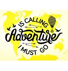 Adventure lettering vector image vector image