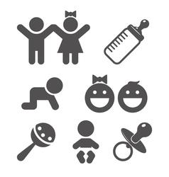 Baby flat icon vector image vector image