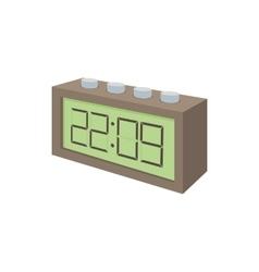 Digital table clock icon cartoon style vector image vector image