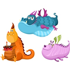 dragon set vector image vector image